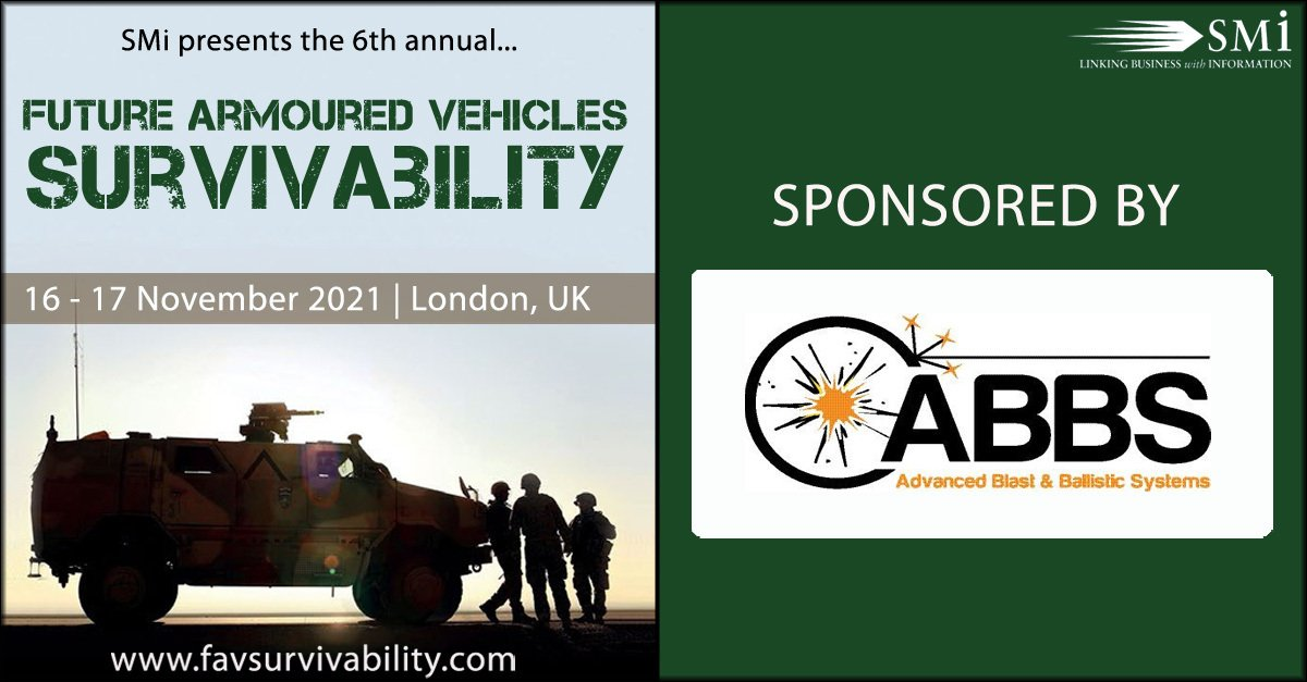 See us at the Future Armoured Vehicles Survivability Conference 2021